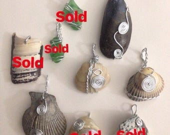 Handmade seashell necklaces