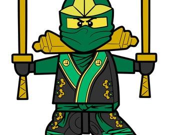 Green Lego Ninja - svg file
