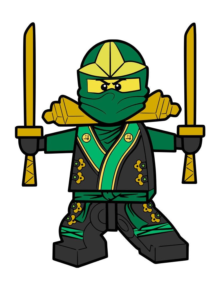 Download Green Lego Ninja svg file