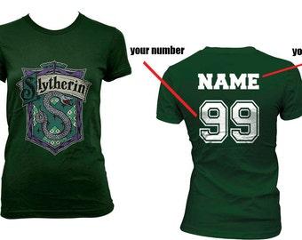 Custom back, Slyth Crest #2 Fullcolor on Women tee