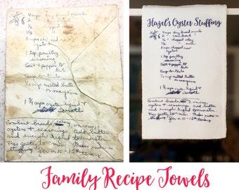 Family Recipe Kitchen Towel - Personalized Hand Towel - Tea Towel - Unique Gifts - Gift for ...
