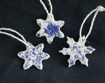 Ceramic Snowflake Christmas Ornament