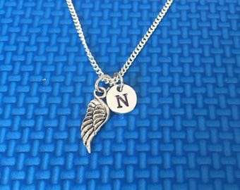 Angel Wing necklace ,Jewelry, Silver Jewelry, angel wing jewelry, gift for someone special CP28