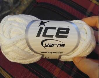 Ice frilly scarf yarn