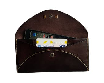 Phone Wallet iPhone 6/6S Leather Case Leather Phone Wallet Envelope Design Wallet Case - Dark Brown