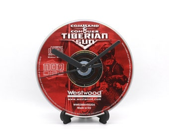 Command & Conquer Tiberian Sun NOD Disc PC Upcycled CD Clock Retro Video Game Gift Idea
