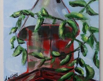 Birdhouse Painting, Home Decor