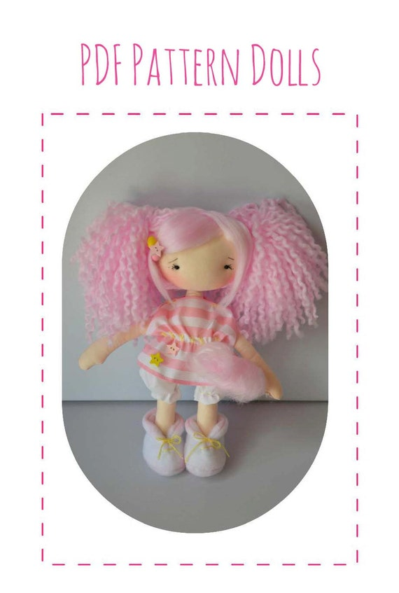 pattern dolls doll cotton candy by abrazitus on etsy