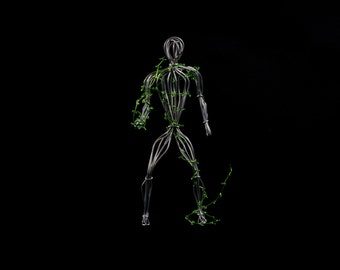 Wire Sculpture of Human Nature, Wire person by OnceWire