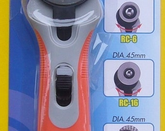 DAFA 45mm Rotary Cutter with Cushion Grip Handle