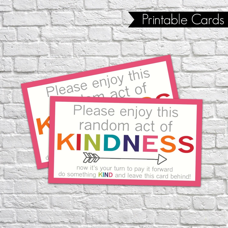 Printable random act of kindness cards raok pay it for Random diys