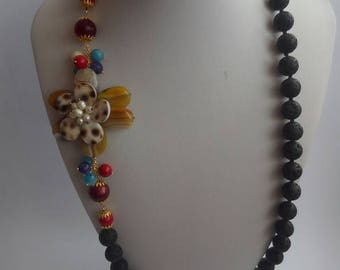 Etna lava stone necklace