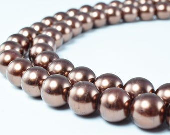 Glass Pearl Beads Size 10mm Shine Round Ball Beads for Jewelry Making Item#789222046361