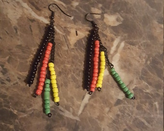 Afrocentric dangle earrings