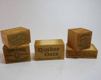 Dollhouse Miniature Set of Old-Fashioned Wood Shipping Boxes (1/12 Scale)