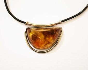 Vintage  Baltic Amber Pendant, 34g