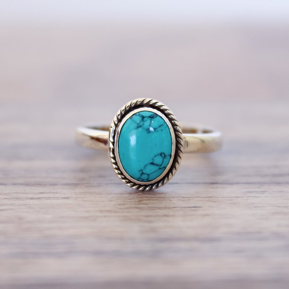 turquoise ring silver ring 92 5 solid sterling silver ring