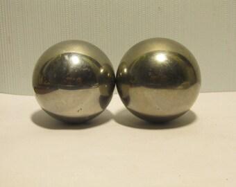 Ball Big metal 2pcs / steam punk / industrial
