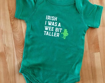 St. Patrick's Day Shirt     Irish I Was A Wee Bit Taller T-shirt     St. Patty's Day Shirt     Leprechaun Shirt     Infant