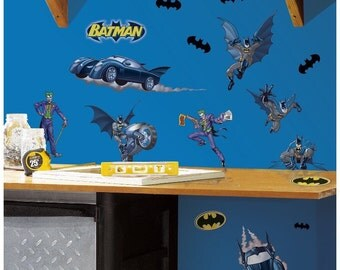 Batman bedroom/birthday stick and peel wall decal decor