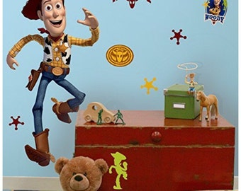 toy story woody bedroom/birthday stick and peel wall decal decor