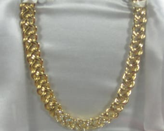 F-10 Vintage Necklace 18 in long Gold tone in original cover
