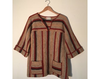 Vintage 70s Striped Tunic Sweater Herald House