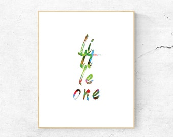Little One, Typography
