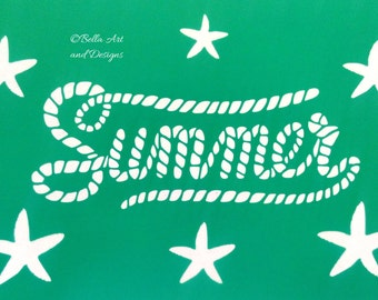 List 6 - Beach and Tropical Stencils  *Free gift with every order*