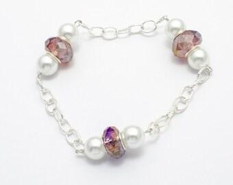 Pearl crystal bracelet  MJ0109