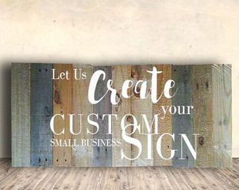 Custom Made Signs - Office Sign - Custom Wood Signs - Personalized Signs - Office Decor - Office Wall Art - Large Small Business Sign