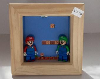 Mario bros, retro game, retro classic gamer