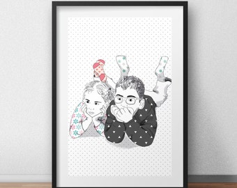 Contemporary art print contemporary wall art contemporary room decor children room art print customized art print design