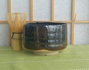 Tenmoku chawan, matcha teabowl for Japanese tea ceremony