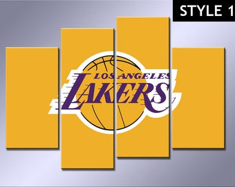 NBA Los Angeles Lakers basketball 4 Panel canvas