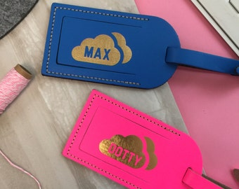 Personalised Cloud Luggage tag