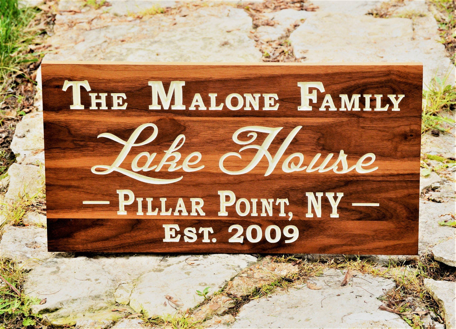 Personalized Wooden Sign Personalize Wood Plaque Outdoor Entry Sign  Driveway Address Yard Sign Hanging Address Sign