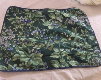 Vintage Laura Ashley Bramble Berry print travel size pillow sham, free shipping.