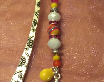 Tennis beaded bookmark