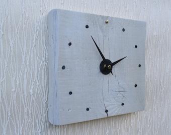 Wall Clock, Rustic Desk Clock, Clock, Square Wooden Clock, Table Clock, Modern Clock, Handmade Clock, Small Wall Clock, Rustic Wood Clock