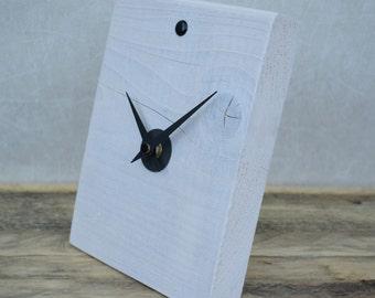 Desk Clock, Wooden Clock, Handmade Clock, Small Table Clock, Clock, Modern Desk Clock, Small Clock, Table Clock, Rustic Clock