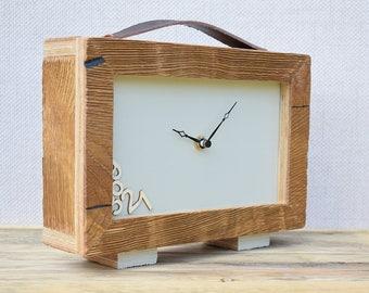 Table Clock, Desk Clock, Modern Clock, Clock, Handmade Clock, Wood Clock, Small Clock, Oak Clock, Table Clock, Office Clock