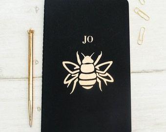 Luxury Bumblebee Personalised Notebook