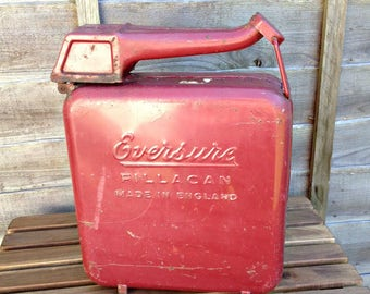 Vintage petrol can, fillacan petrol/gasoline can, 2 gallon petrol can, Vintage Oil Can, 10 litre Petrol Can, Eversure can, vintage can