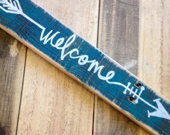 Welcome Arrow Word Art