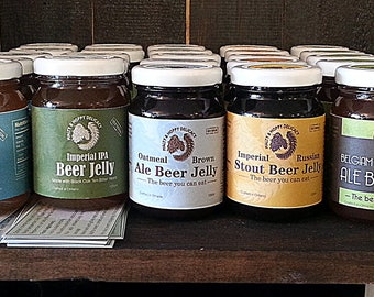 Set of 3 beer jellies (125 ml) - mix and match