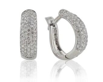 Small Diamond Hoop Earrings, White Gold Hoops, Diamond Hoops, Gold Diamond Earrings, Diamond Wedding Earrings, Diamond Earrings, Wedding
