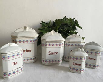 Set of spice jars