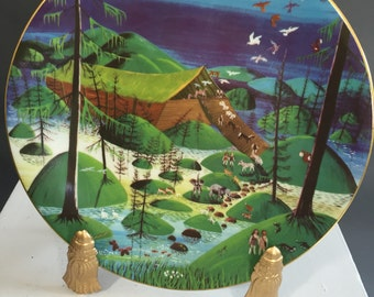 At Journey's End-Noah's Ark number Six of Six Limited Edition Porcelain Plate