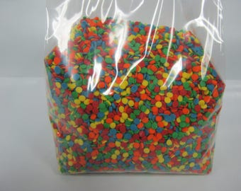 "Edible Confetti 1/8"" Sequins Sprinkles Bright Primary Colors 12 oz candy cake decorating"